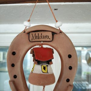 Pottery souvenir Horseshoe and bell 2