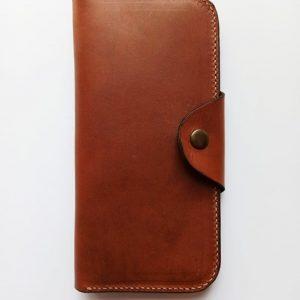 Handmade travel leather wallet