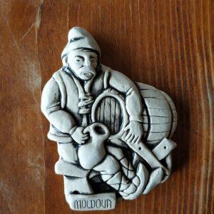 Pottery souvenir Man with a barrel