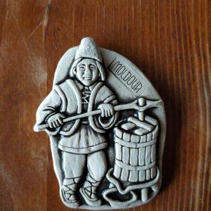 Pottery souvenir Man with winepress