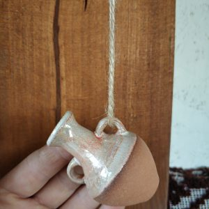 Pottery souvenir Small jug on the rope 3