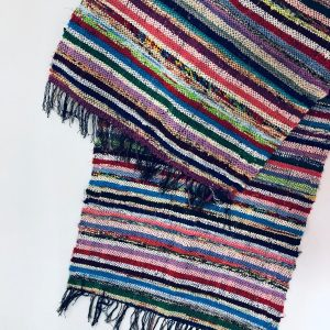 Hand woven rug handmade