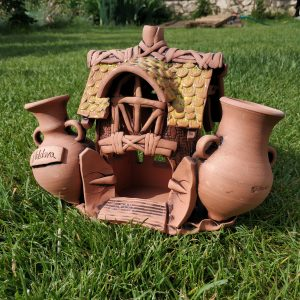 house with two jugs pottery souvenir