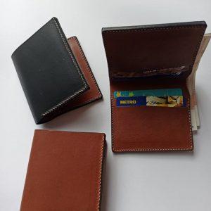 leather bifold handmade wallet minimalist