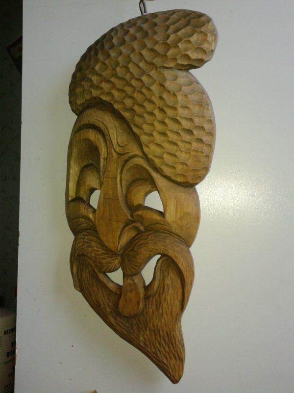 Big wooden mask