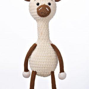 Handmade crocheted giraffe toy